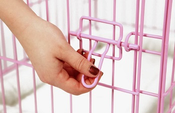 Carlson Pink Metal Dog Crate