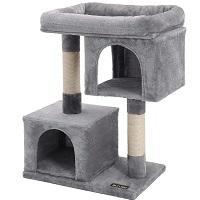 Feandrea Two-Level Condo Cat Tree Summary