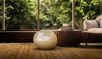 Fhasso Igloo Cat Cave Bed