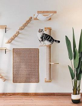 Fukumaru Slim Cat Tower Wall Mount