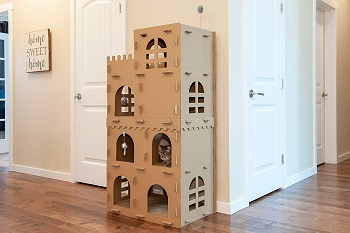 Furhaven Corrugated Cardboard Cat Castle Review