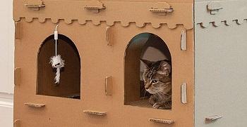 Furhaven Corrugated Cardboard Cat Castle