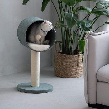 FurryTail Scandinavian Cat Tree Condo Review