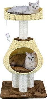 Go Pet Club Sphere Rattan Cat Tree Review