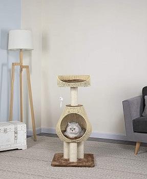 Go Pet Club Sphere Rattan Cat Tree