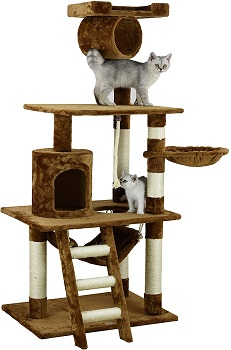 Go Pet Club Tunnel Hammock Cat Tower