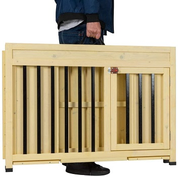Good Life Foldable Wood Dog Crate