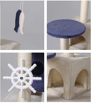Hyabi Cat Tree Condo With Wheel
