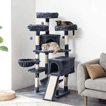 Ibuyke Sturdy Cat Tower For Large Cats Review