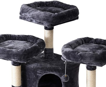 Ibuyke Sturdy Cat Tower For Large Cats