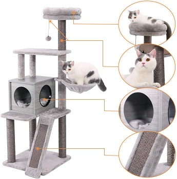 Pawz Cat Tower Gray Review