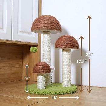 PetnPurr Cat Tree Mushroom