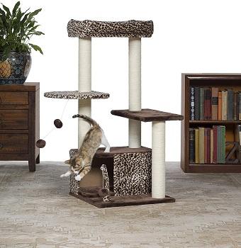 Prevue Leopard Print Cat Towers