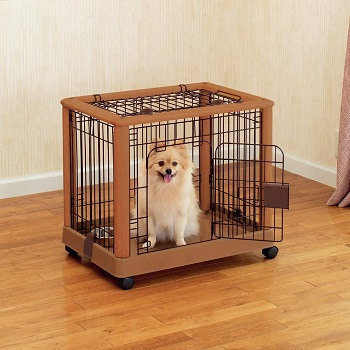 Richell Wood Mobile Pet Pen