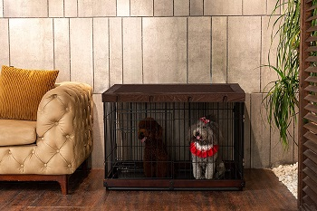 SIMPLY + Wood & Wire Dog Crate