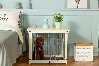 BEST SMALL INDOOR DOG CRATE FURNITURE