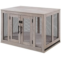 Unipaws Wood And Metal Dog Crate Summary
