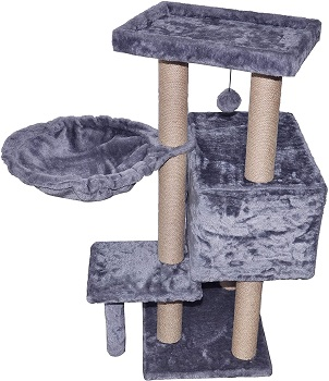 WIKI 002G Grey Jute Cat Tree Review