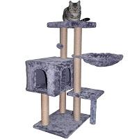 WIKI 002G Grey Jute Cat Tree Summary