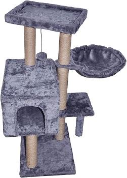 WIKI 002G Grey Jute Cat Tree