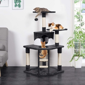 Yaheetech Cat Tower With Ladder