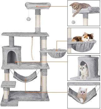 Yaheetech Soft Warm Tree For Cats