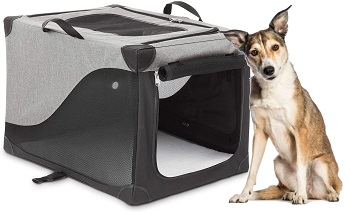 You & Me Portable Canvas Dog Crate