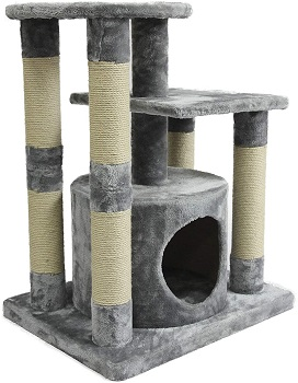 AmazonBasics Cat Tower For Two Cats Review