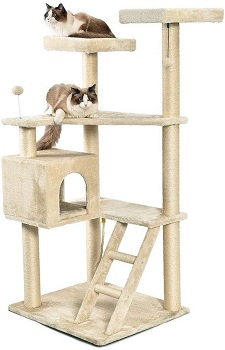 AmazonBasics Cat Tree Multi-Level Step Ladder Review