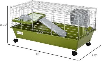 BEST 2 STORIES CUTE Pawhut Rabbit Cage