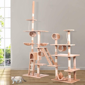 BEST EXTRA-LARGE CAT TOWER WITH HAMMOCK