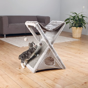 BEST FOLDABLE GRAY Trixie Miguel Fold Gray Cat Tree