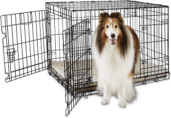 BEST FOR PUPPIES LARGE FOLDABLE DOG CRATE
