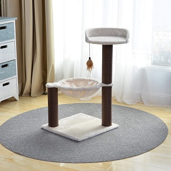 BEST FOR TWO CAT TOWER WITH HAMMOCK