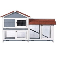 BEST HOUSE LARGE OUTDOOR RABBIT HUTCH summary