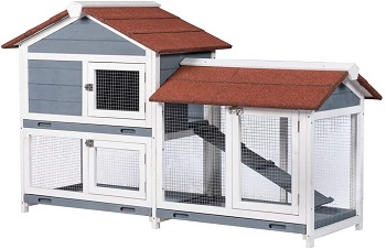 BEST HOUSE LARGE OUTDOOR RABBIT HUTCH