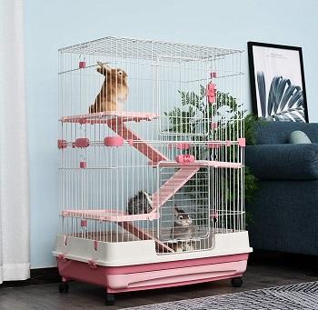 BEST INDOOR Pawhut 32 Cool Bunny Cage