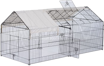 BEST LARGE FLEMISH Pawhut Rabbit Cage