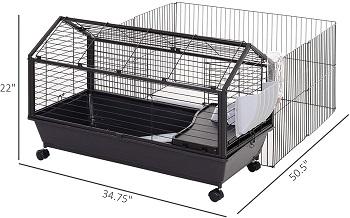 BEST METAL DWARF Pawhut Bunny Cage