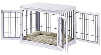 BEST OF BEST LARGE DECORATIVE Dog Crate End Table