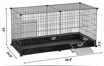 BEST PLAYPEN Songmics Cheap Indoor Rabbit Cage