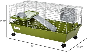 BEST SMALL Pawhut 35 Cool Rabbit Cage