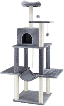 BEST TALL CAT TOWER WITH HAMMOCK