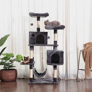 BEST WIDE HAMMOCK Hey-Brother Hammock Cat Tree