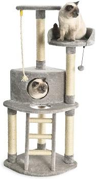 BEST WITH CONDO GRAY AmazonBasics Gray Cat Tree