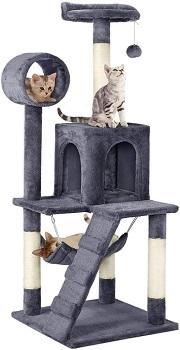 BEST WITH HAMMOCK GREY Topeakmart Grey Cat Tree