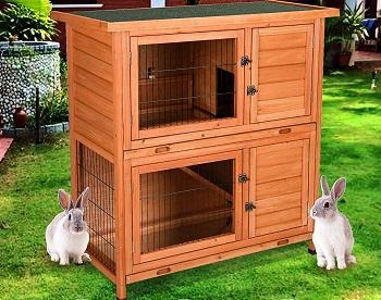 BEST WOODEN DOUBLE Rabbit Hutch