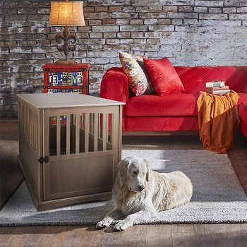 BEST WOODEN LARGE DECORATIVE Casual Home Dog Crate