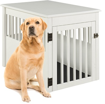 BarkWood Large Pet Crate End Table