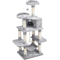 Best Carpeted Cat tree With Hammock For Large Cats Summary